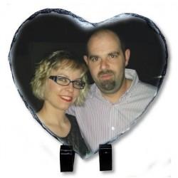 Portafotos de piedra pizarra Corazón