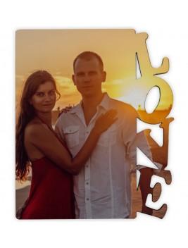 "Portafotos de madera ""Love"""