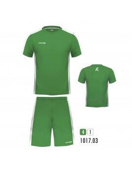 Equipacion New One Verde Blanco
