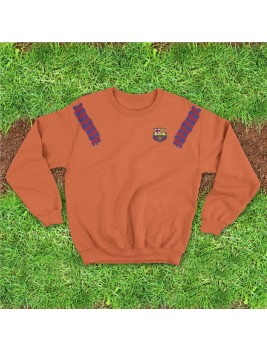 Sudadera Retro Barcelona Orange
